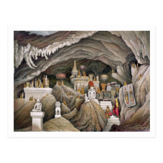 Interior of the grotto of Nam Hou, Laos, from 'Atl Postcard