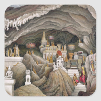 Interior of the grotto of Nam Hou, Laos, from 'Atl Square Sticker