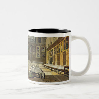 Interior of the Hall of Christ Church, illustratio Two-Tone Coffee Mug