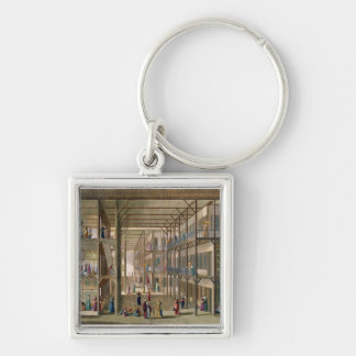 Interior of the Harem of the Great Lord of Constan Silver-Colored Square Keychain