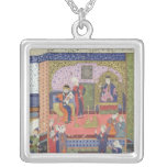 Interior of the King of Persia's Palace Square Pendant Necklace