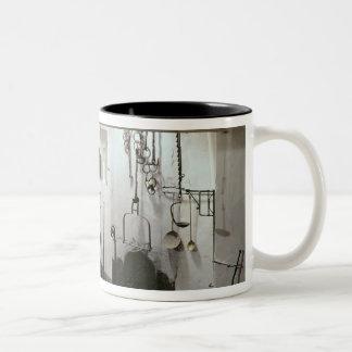 Interior of the kitchen of the Hotel de Cabris Two-Tone Coffee Mug