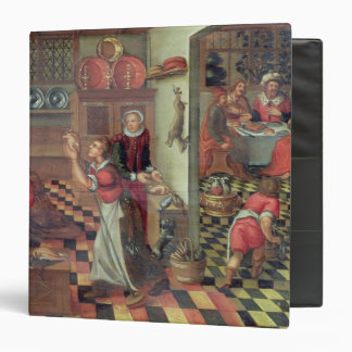 Interior of the Kitchen, the Supper at Emmaus 3 Ring Binder