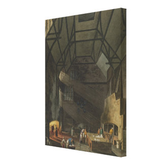 Interior of the Kitchen, Trinity Cambridg Stretched Canvas Print