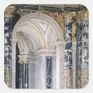 Interior of the Kunsthistorisches Museum Square Sticker