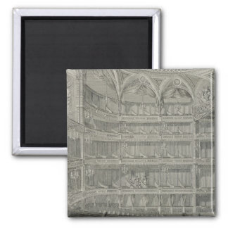 Interior of the Late Theatre Royal, Drury Lane, in 2 Inch Square Magnet