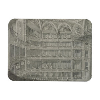 Interior of the Late Theatre Royal, Drury Lane, in Rectangular Photo Magnet