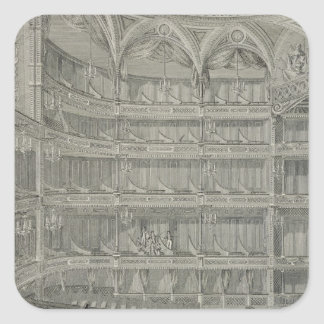 Interior of the Late Theatre Royal, Drury Lane, in Square Sticker