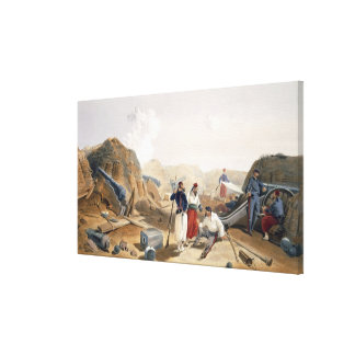 Interior of the Mamelon Vert, plate from 'The Seat Canvas Print
