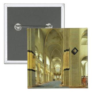 Interior of the Marienkirche in Utrecht 1638 Pinback Buttons