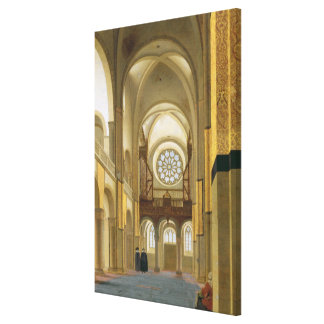 Interior of the Marienkirche in Utrecht 1638 Stretched Canvas Print