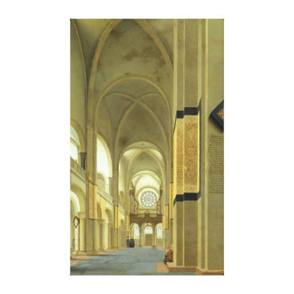Interior of the Marienkirche in Utrecht 1638 Gallery Wrapped Canvas
