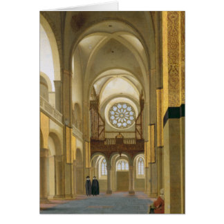 Interior of the Marienkirche in Utrecht 1638 Greeting Cards