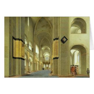 Interior of the Marienkirche in Utrecht 1638 Greeting Card