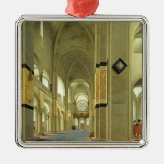 Interior of the Marienkirche in Utrecht 1638 Christmas Tree Ornament