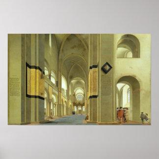 Interior of the Marienkirche in Utrecht 1638 Poster