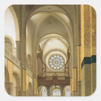 Interior of the Marienkirche in Utrecht 1638 Sticker