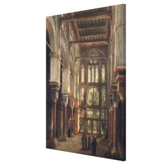 Interior of the Mosque of El Mooristan in Cairo Canvas Print
