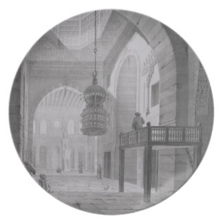 Interior of the Mosque of Kaid-Bey, plate 55 from