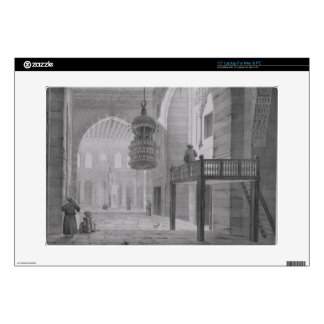 """Interior of the Mosque of Kaid-Bey, plate 55 from 15"""" Laptop Skins"""