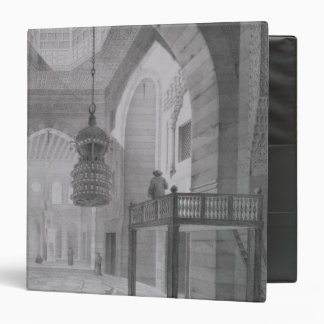 Interior of the Mosque of Kaid-Bey, plate 55 from 3 Ring Binder