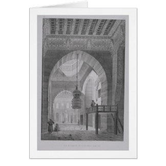 Interior of the Mosque of Kaid-Bey, plate 55 from Card