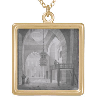 Interior of the Mosque of Kaid-Bey, plate 55 from Gold Plated Necklace