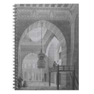 Interior of the Mosque of Kaid-Bey, plate 55 from Notebook