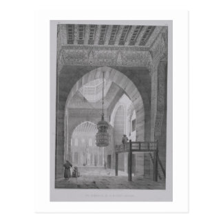 Interior of the Mosque of Kaid-Bey, plate 55 from Postcard