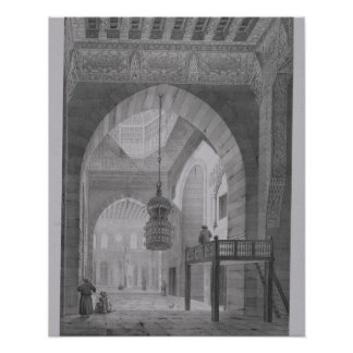 Interior of the Mosque of Kaid-Bey, plate 55 from Poster