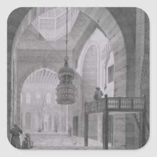 Interior of the Mosque of Kaid-Bey, plate 55 from Square Sticker