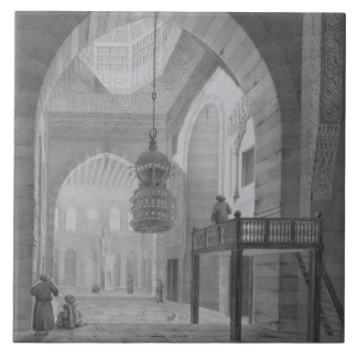 Interior of the Mosque of Kaid-Bey, plate 55 from Tile