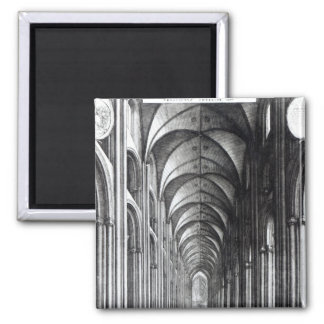 Interior of the Nave of St. Paul's, 1658 Fridge Magnets