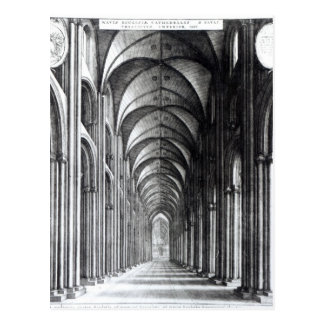 Interior of the Nave of St. Paul's, 1658 Postcard