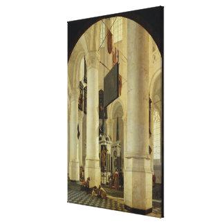 Interior of the Nieuwe Kerk Canvas Print