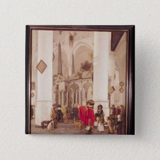 Interior of the Nieuwe Kerk, Delft, 1656 Pinback Button