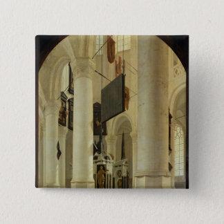 Interior of the Nieuwe Kerk Pinback Button