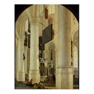 Interior of the Nieuwe Kerk Postcard