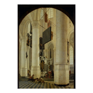 Interior of the Nieuwe Kerk Poster