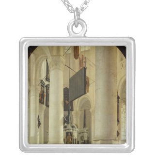 Interior of the Nieuwe Kerk Silver Plated Necklace