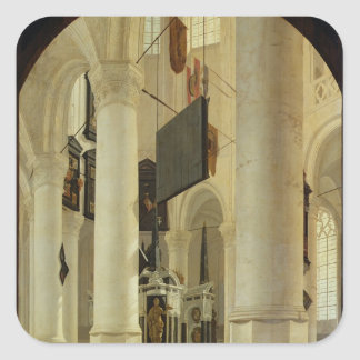 Interior of the Nieuwe Kerk Square Sticker