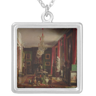 Interior of the Office of Alfred Emilien Silver Plated Necklace