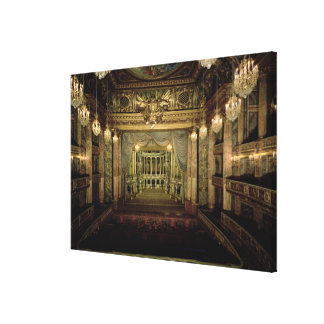 Interior of the Opera House, completed in 1770 (re Canvas Print