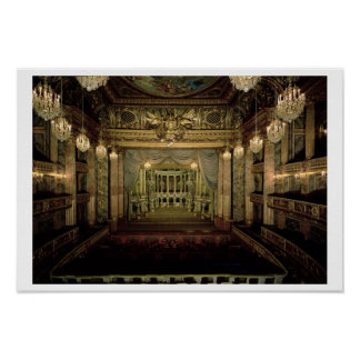 Interior of the Opera House, completed in 1770 (re Poster