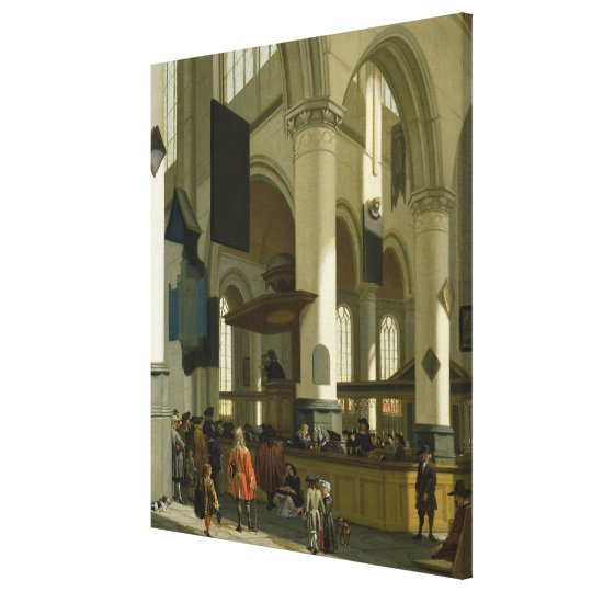 Interior of the Oude Kerk Canvas Print