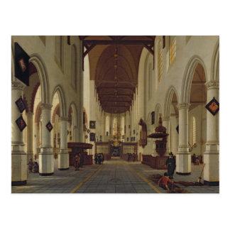 Interior of the Oude Kerk, Delft, c.1660-70 Postcard
