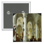 Interior of the Oude Kerk in Delft 2 Inch Square Button