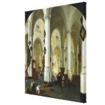 Interior of the Oude Kerk in Delft Canvas Print