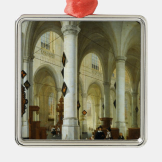 Interior of the Oude Kerk in Delft Metal Ornament