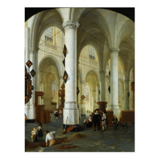 Interior of the Oude Kerk in Delft Postcard